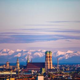 Mnchen Stadtpanorama Skyline